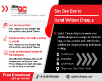 Image for Quick Cheque | Free Cheque Printing Software