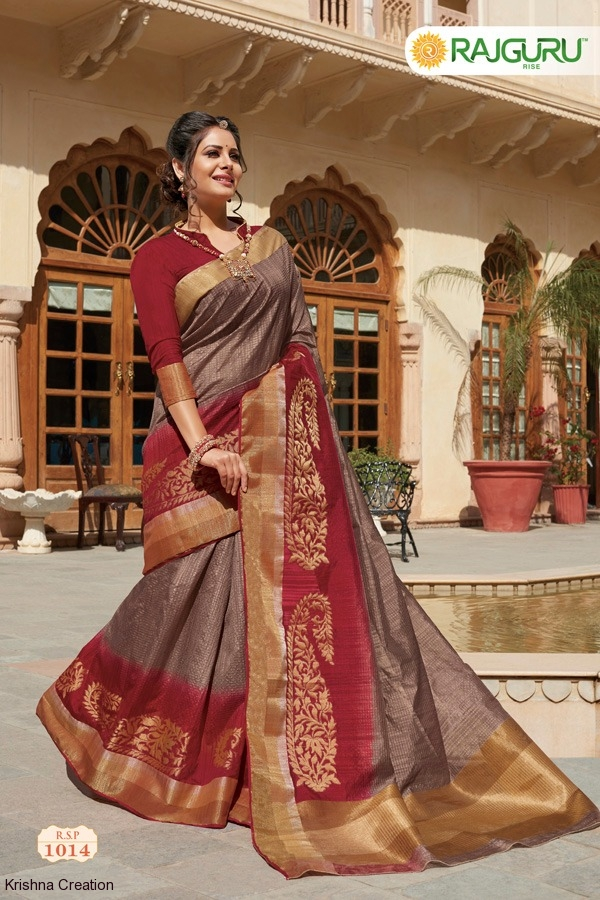 Silk saree catalog from rajguru heena royale at wholesale