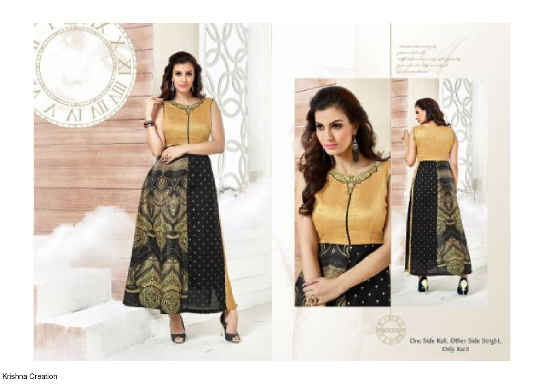 Image for Silk digital printed kurtis readymade from spnxg vol61 at wholesale no