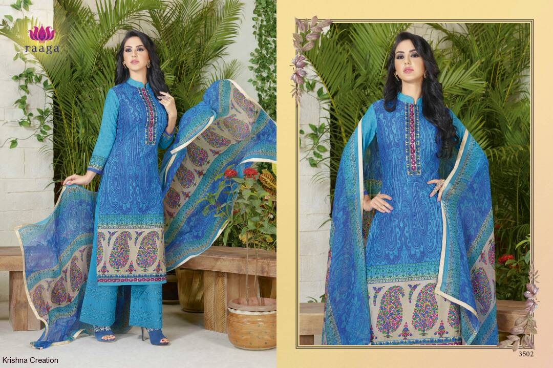 Swagat raaga 3501 series cotton printed catalog at wholesale available