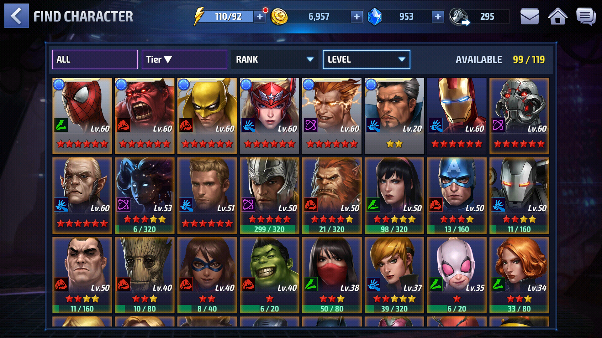 Image for Marvel future fight account