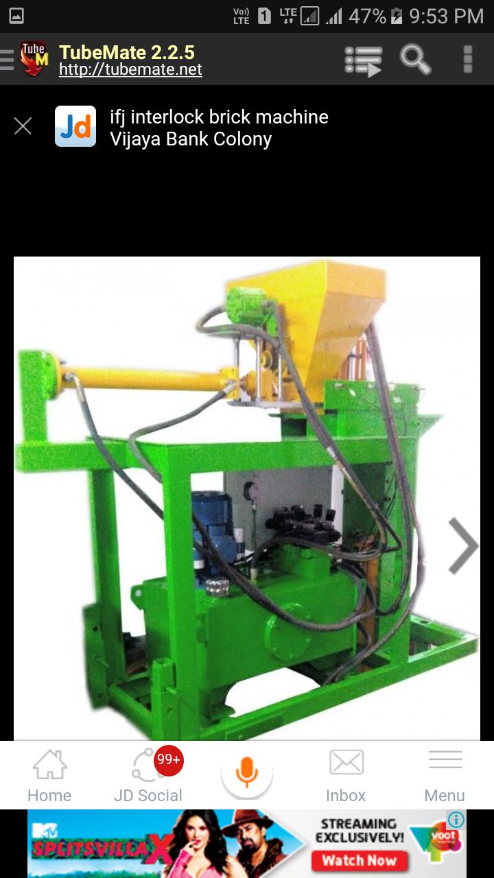 Image for Interlock brick machine in bangalore