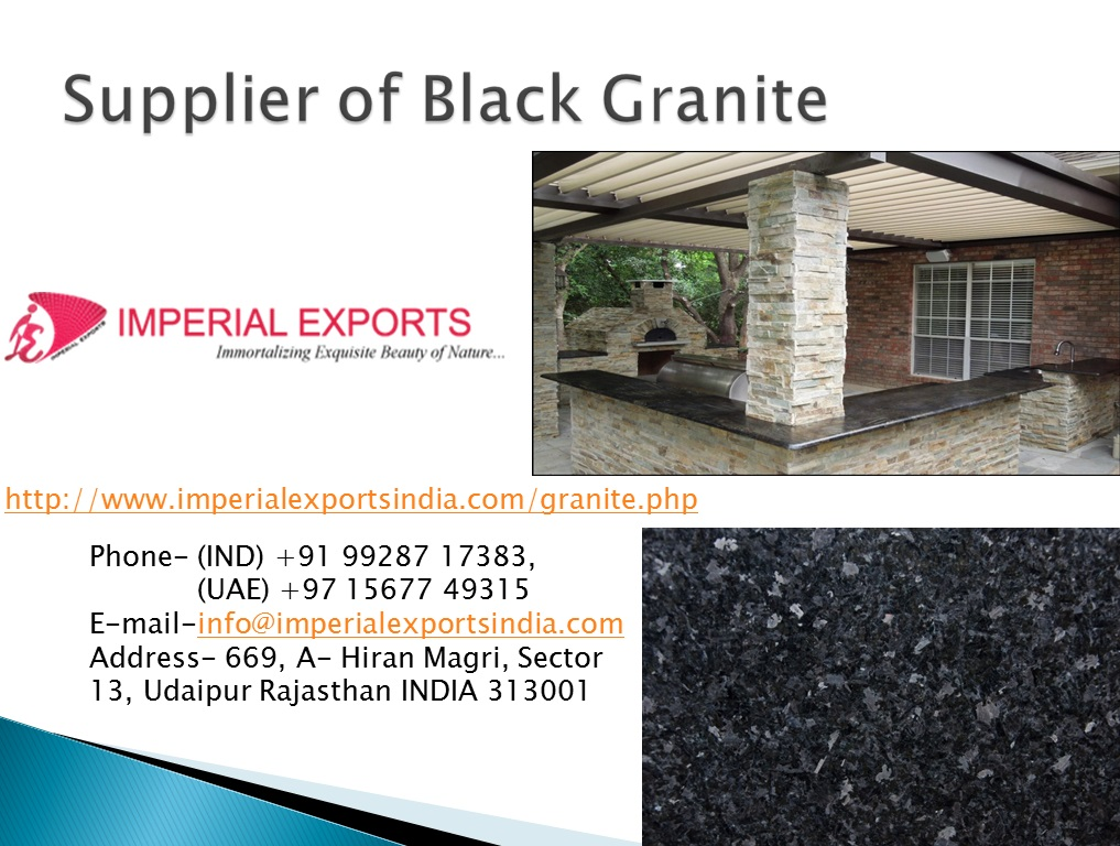 Supplier of Absolute Black Granite UK US Russia Imperial Exports India