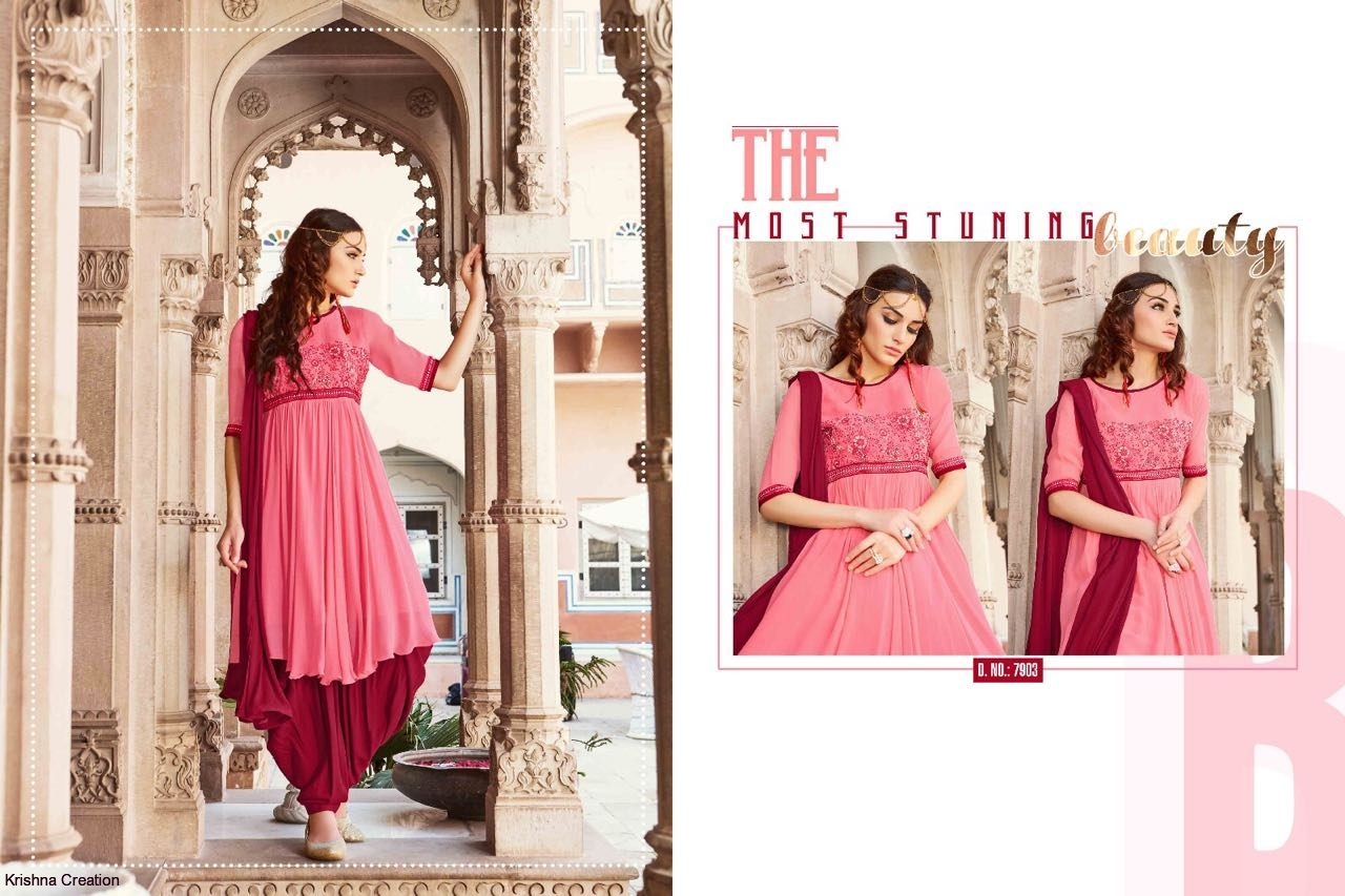 Image for Style of patiyala by kajree georgette readymade catalog at wholesale