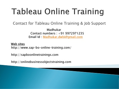 Tableau 9.3 Online Training for Beginners