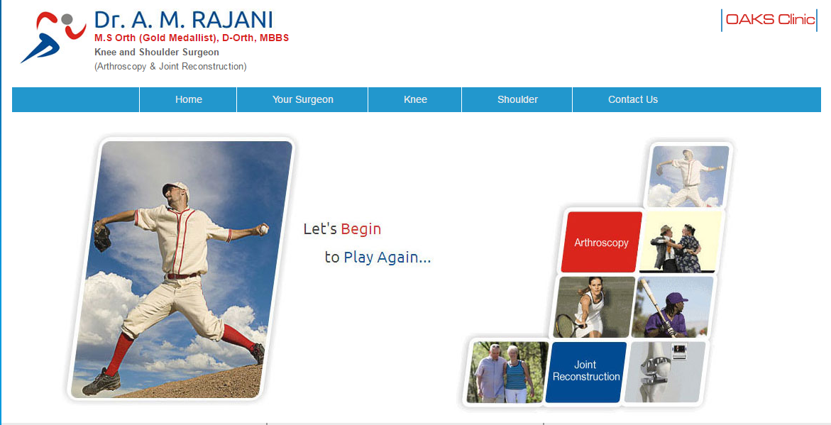 Image for  Knee Specialist in Mumbai. for Knee Replacement | Dr Amyn Rajani