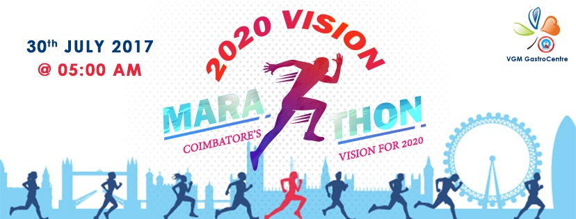 Image for 2020 Vision Marathon Registration Coimbatore:July 30th, 2017