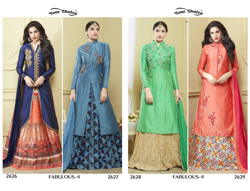 Fabulous vol4 by your choice semistitched silk catalog at wholesale  n