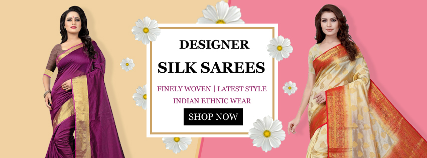 Image for Buy Designer Silk Sarees Online - YOYO Fashion