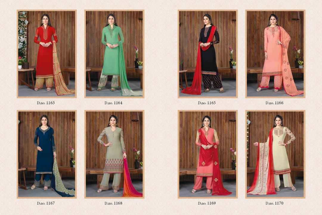 Zaaina vol8 by khwaab georgette semistitched plazo suits catalog at wh