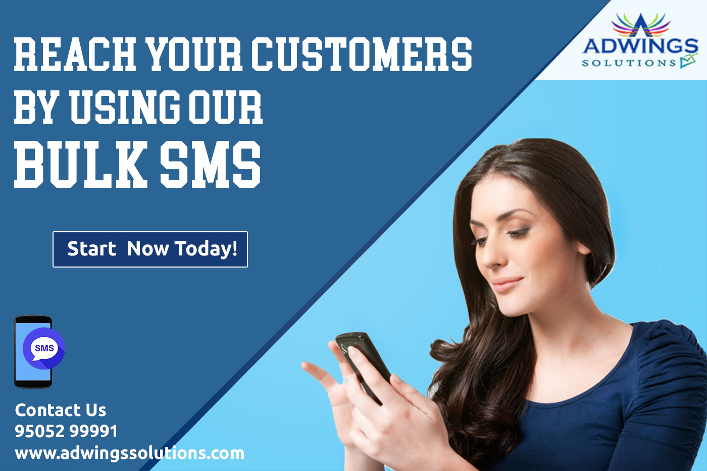 Image for Bulk SMS Service Provider in Hyderabad