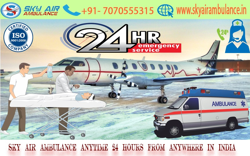 Get Sky Air Ambulance from Kolkata to Delhi without paying huge amount