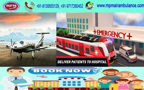 Image for Get Advanced Low Cost MPM Air Ambulance Services in Delhi