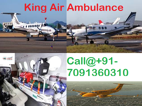 King Air Ambulance Services in Delhi with Medical ICU Service