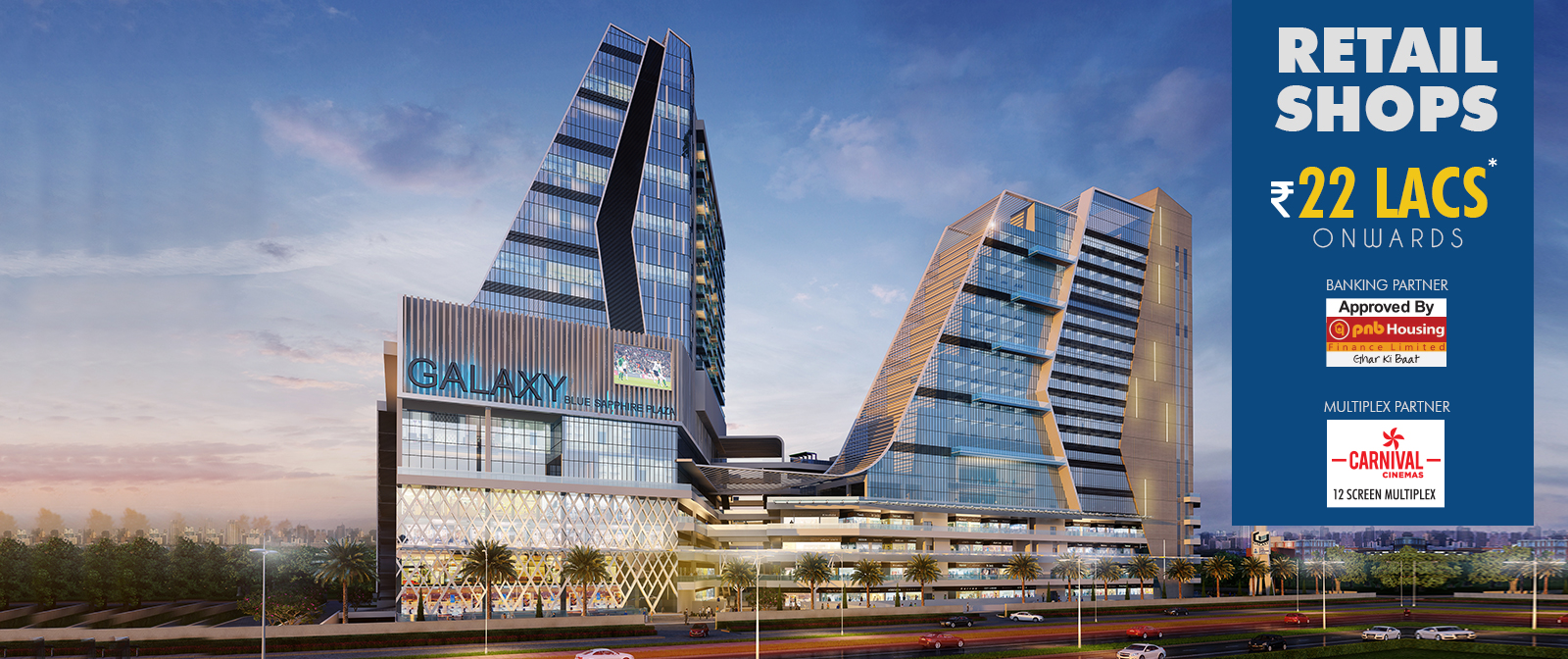 Image for Galaxy Blue Sapphire Plaza Retail Shops Available only at 22 Lacs