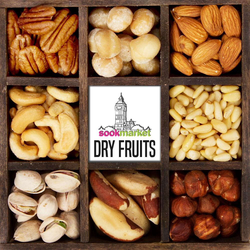 Image for Buy Dry Fruits Online - Almonds, Cashews, Pistachios, Raisins