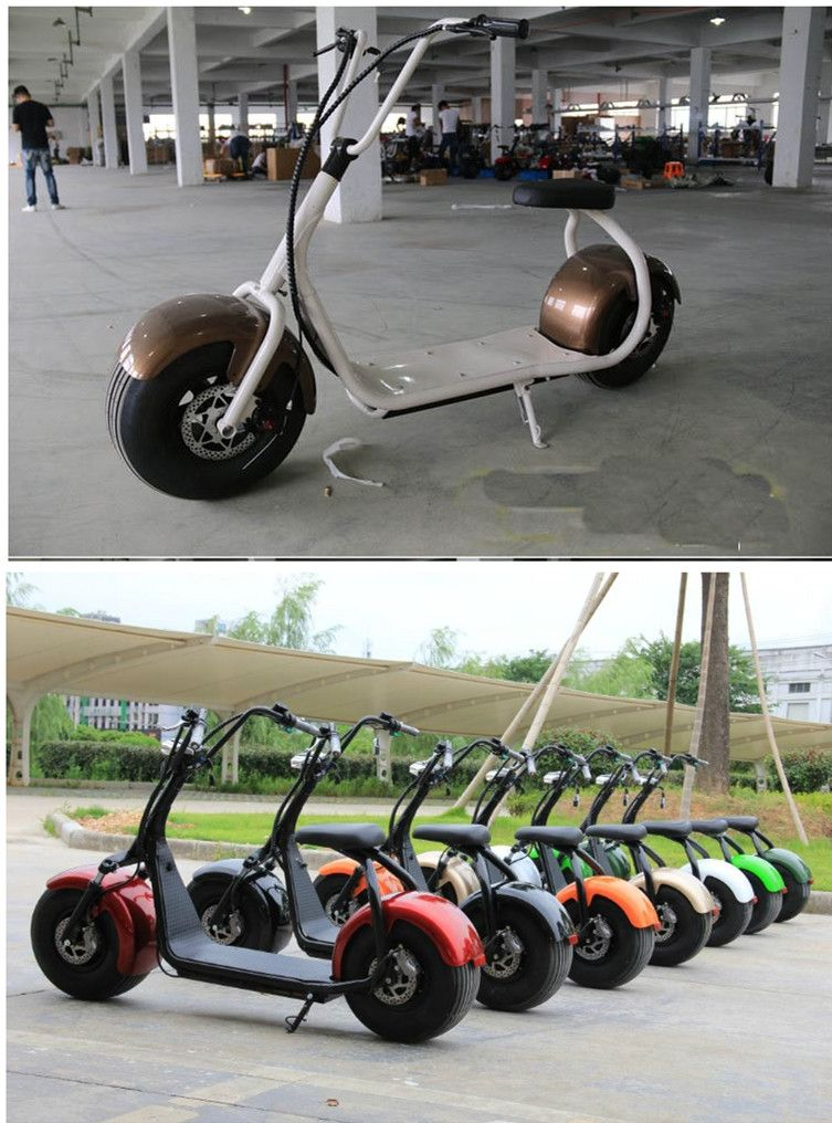 Image for Citycoco 1000w 12Ah Lithium Battery Electric Harley Scooter Big Tyres
