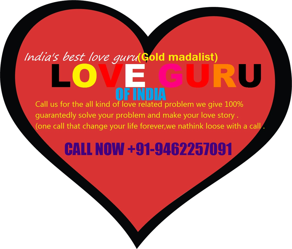 LOVE GURU of india in CHANDIGARH CALL NOW +91-9462257091