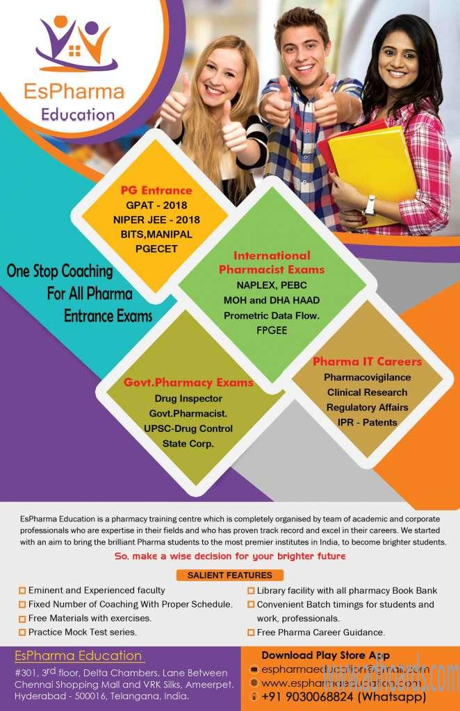 Image for Pharmacist and drug inspector coaching institute in hyderabad