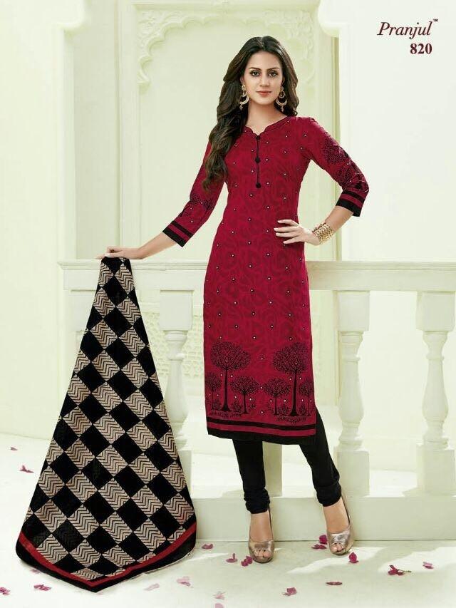 Image for Cotton printed dressmaterials from pranjul priyanka vol8 at wholesale