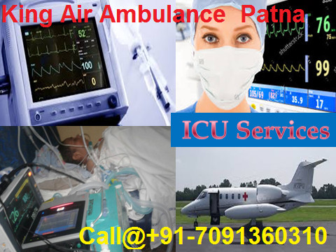 ICU Care Air Ambulance Services in Delhi by King Air Ambulance