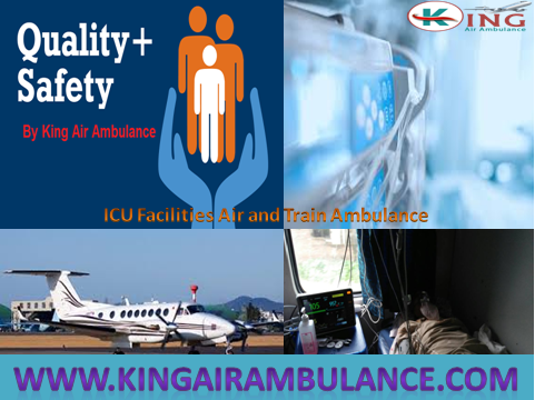 Cost of Air Ambulance Patna to Delhi with ICU Service by King Air Ambu