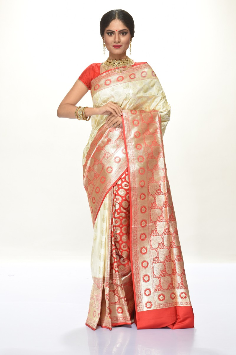 Image for Buy Silk Sarees Online, Benarasi, Chiffon, Dhakai Jamdani saree & many