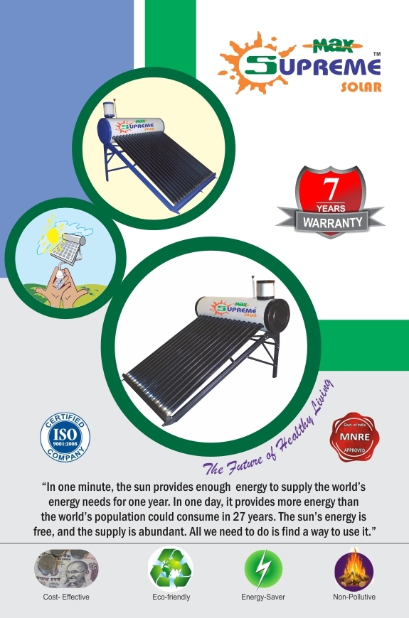 Image for Max Supreme Solar waterr heater