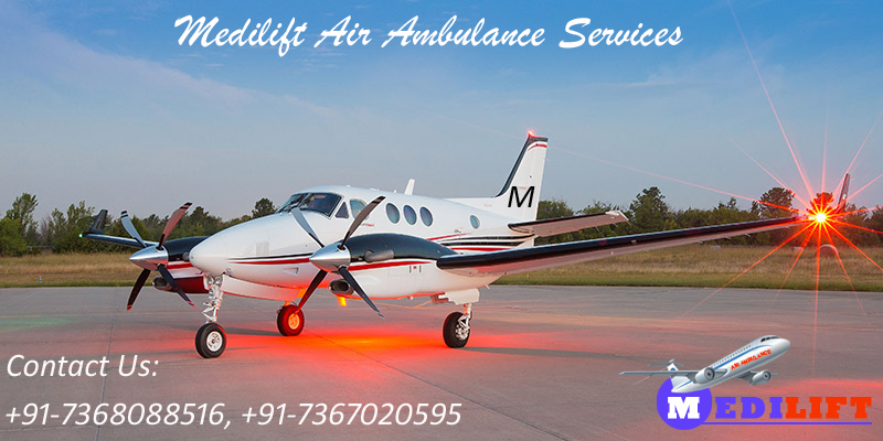 Avail Best and Low Fare Air Ambulance from Varanasi by Medilift