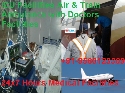 Reliable Medical ICU Care Air Ambulance from Ranchi to Delhi