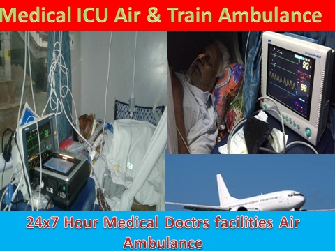 Medical ICU Air Ambulance Service in Varanasi-King Air Ambulance