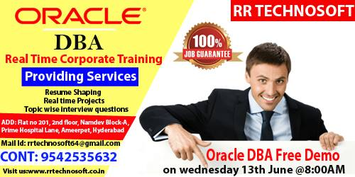 Image for Oracle dba training institute in ameerpet