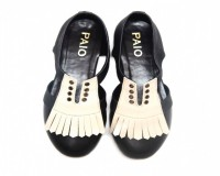 Image for Buy Manny Brown And Beige Derby Oxford Flat Shoes for Women at PAIO Sh