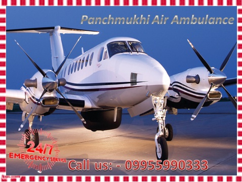 Panchmukhi Air Ambulance Service in Bangalore with Medical Team