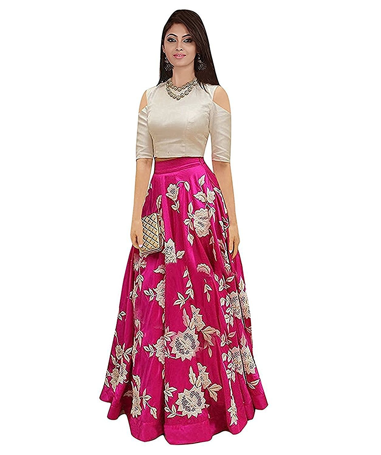 Image for Pink Lehenga Cholis For Womens free Size