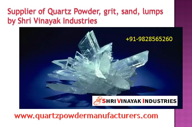 Supplier of Quartz powder grid sand lumps in India Malaysia SVI