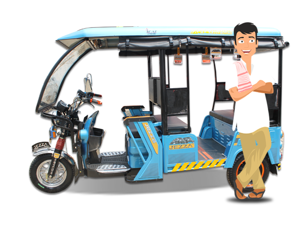 Image for Battery Operated Electric Rickshaw or E-Rickshaw Manufacturer in India