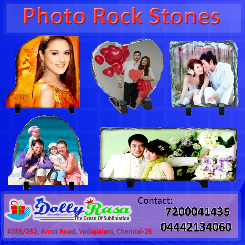 Image for Photo Rock Stone With Your Own Photo Printing Are Available....