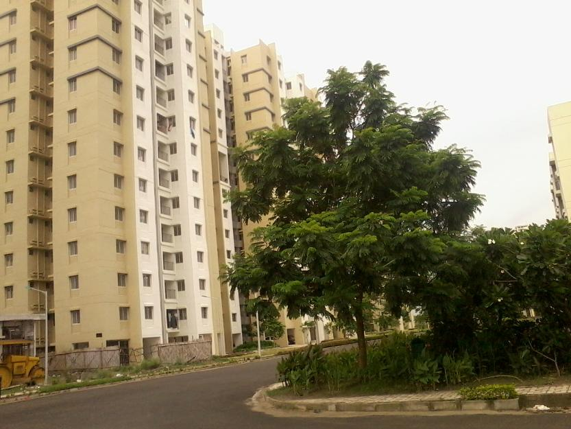 2 BHK with parking flat in New Town shapoor ji sukhobristi