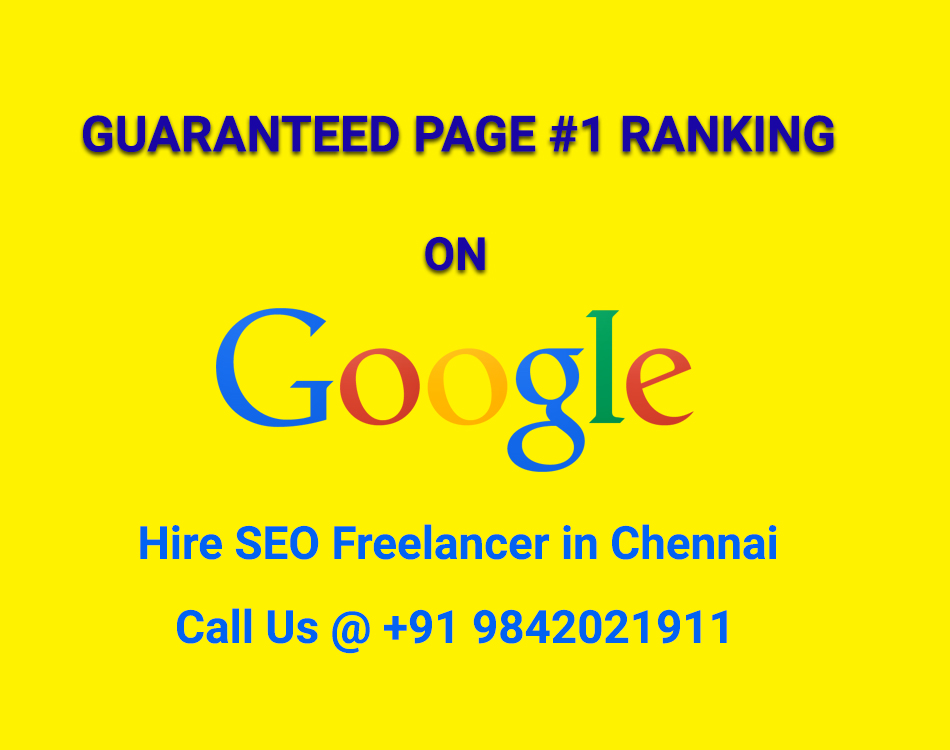 Image for Hire Seo Freelancer in Chennai: Call to discuss 9842021911