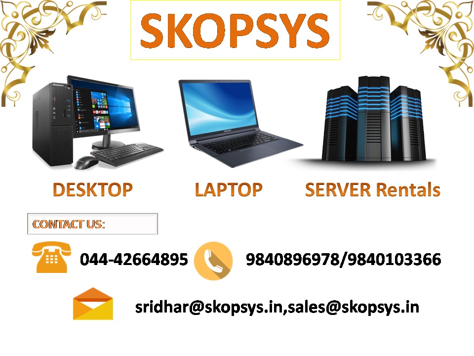 Image for Computer rentals in Chennai