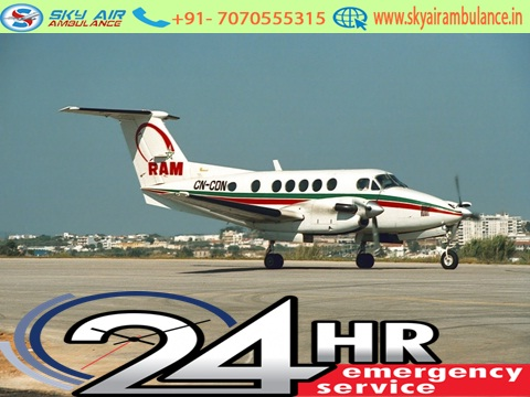 Advanced Sky Air Ambulance from Bhubaneswar to Delhi at low fare