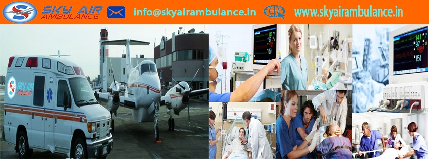 Best and Safe Sky Air Ambulance from Guwahati to Delhi