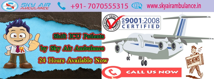 Book Sky Air Ambulance from Guwahati to Delhi at Low Cost
