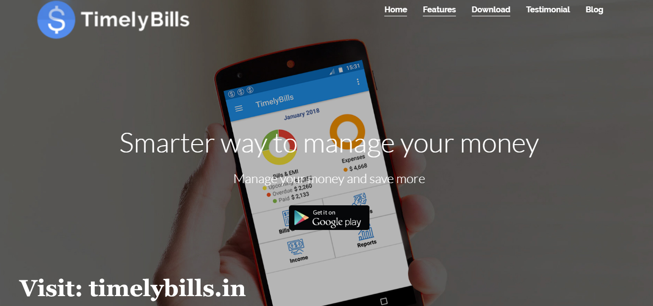 Image for Best Personal Finance App Android - Timelybills.in