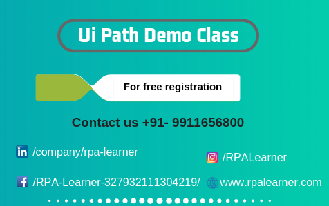 Professional Online Uipath Training in Chennai - RPA Leanrer