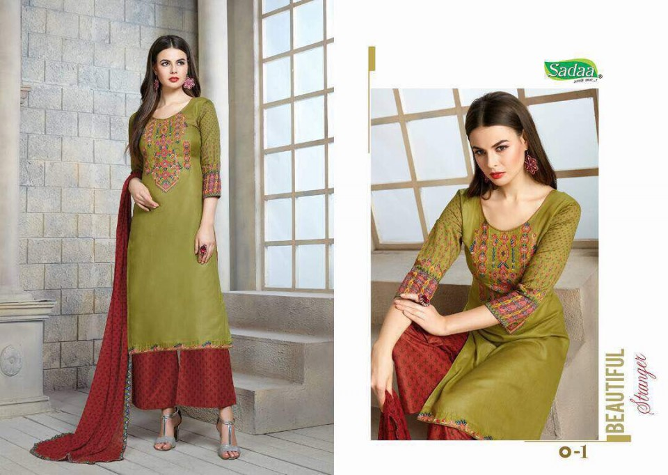Image for Omkara by sadaa glace cotton suits at wholesale  moq- full set  no of
